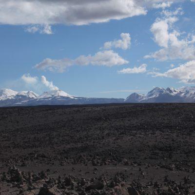 Desde este mirador se podían ver los muchos volcanes de Arequipa, incluso uno humeante
