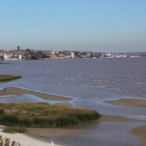 El centro histórico visto desde el paseo del mar