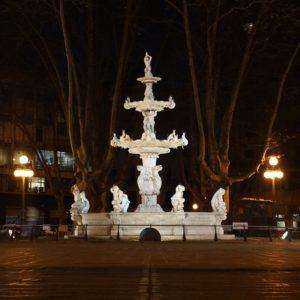 La plaza Constitución o Matriz, el centro del casco histórico