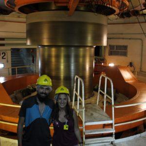 Pudimos visitar una de las turbinas que estaba en movimiento