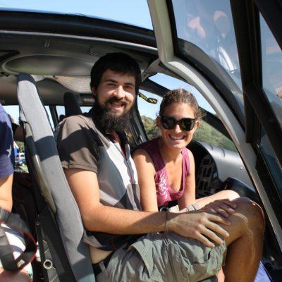 Lo de montar en helicóptero fue un subidón; para mí era la primera vez y para Nico la segunda