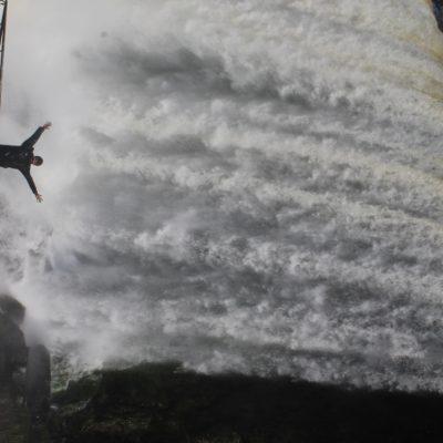 Podías ponerte prácticamente bajo la cascada, aunque eso supusiera una buena ducha