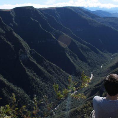 Espectacular la vista del cañón abriéndose