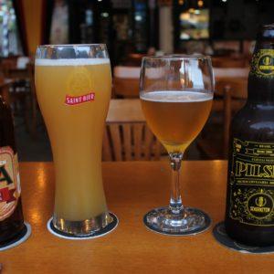 Las 2 primeras cervezas que probamos, aunque luego siguieron unas pocas más