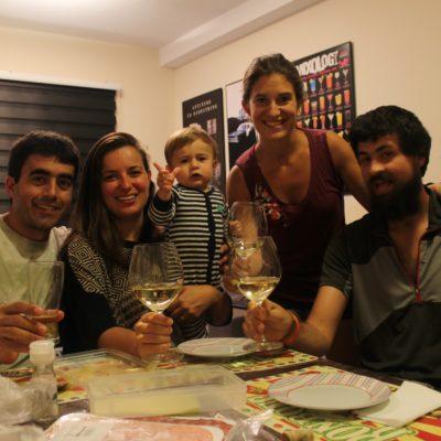 Con Mike, Patricia y Eloi fue guay ver como avanza la vida y los amigos de la universidad son ya padres