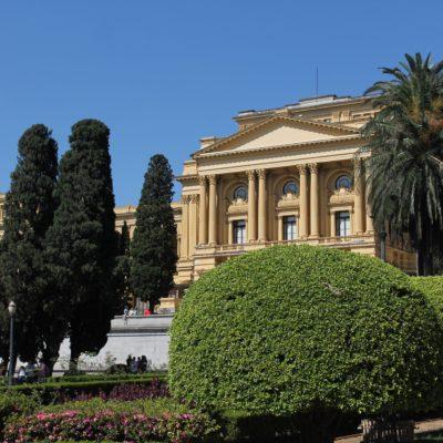 """Al Palacio de Ipiranga también se la conoce como la """"Casa Amarilla"""" por su simil con la """"Casa Rosada"""" de Buenos Aires"""