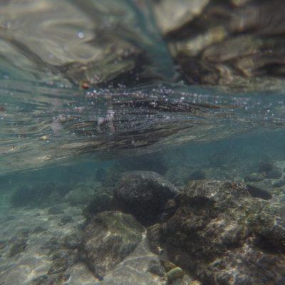El agua era super transparente en algunos sitios