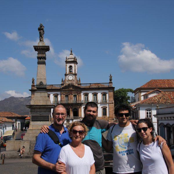 La plaza principal de Ouro Preto