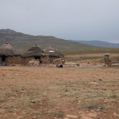 El pequeño pueblo de Lesotho que encontramos justo tras cruzar la frontera