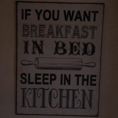 El capricho del desayuno en la cama... jajaja