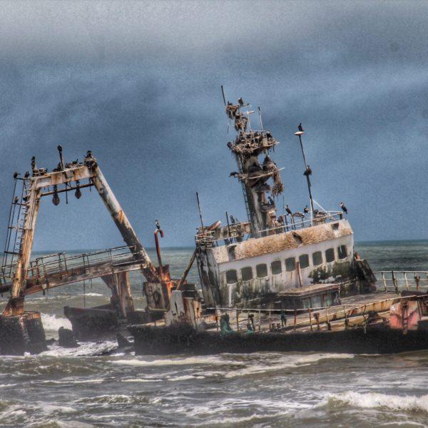 La costa de este punto para arriba está lleno de naufragios y nosotros nos encontramos con éste
