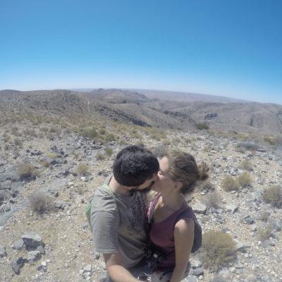 Este fue el punto más alto del recorrido, desde donde podíamos ver el desierto a lo lejos