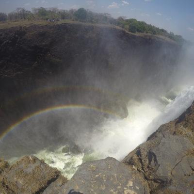 La cantidad de agua facilitaba que hubiera doble arco iris