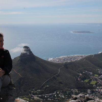 Desde arriba se podía ver también la Isla Robben y Lion's Head