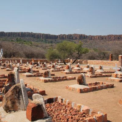 El cementerio alemán dentro del parque es parte de la historia del país