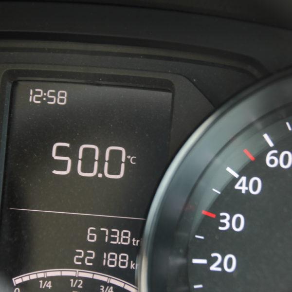 Pasamos un calor inhumano dentro del coche... ¡Hasta 50º!
