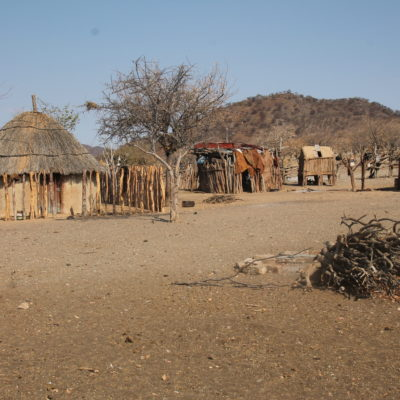 El fuego sagrado arde con madera de mopane, sagrado para los himba