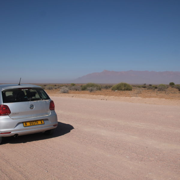 Las carreteras namibias eran una tortura para nuestro Polo, pero intentamos que sufriera lo menos posible