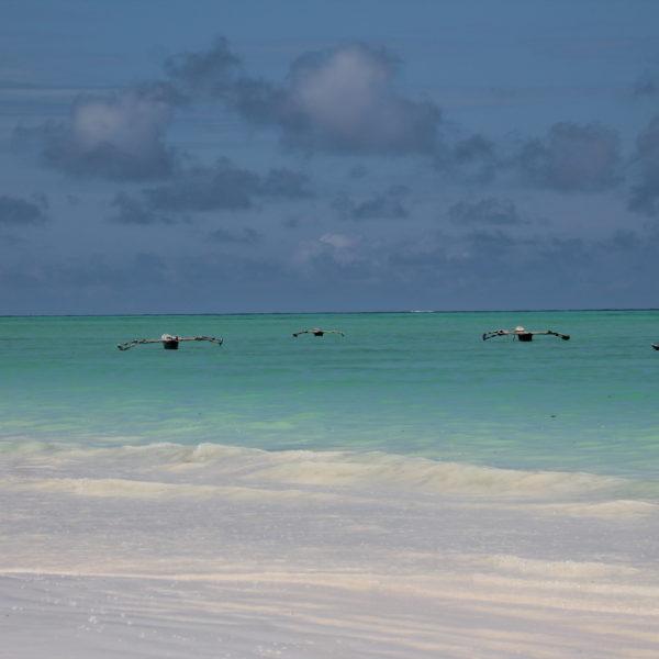 Los barquitos tradicionales de Zanzibar parecían sacados de Star Wars