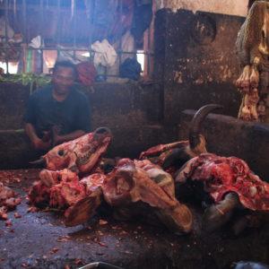 La parte de carne estaba dividida en carnicería y despojos, la que se ve en la foto