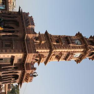 La Torre del Reloj en la plaza central de Jodhpur