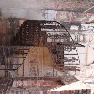 Aunque no se podía subir por la escalera, el rincón tenía un encanto especial