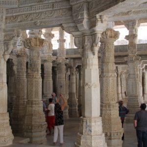 Resultó imposible mostrar en una foto la gran cantidad de columnas que había en el interior del templo