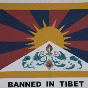 La bandera de Tibet, prohibida en el propio Tibet