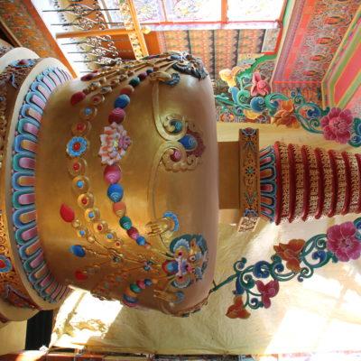 Esta gran stupa es el centro del templo