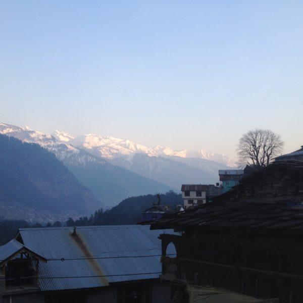 En todo el recorrido tuvimos buenas vistas de las montañas nevadas