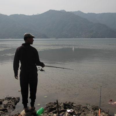 ¿Tendría suerte este pescador?