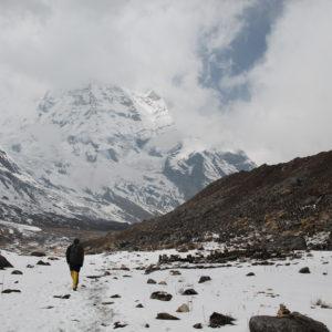 Y el Annapurna Sur frente a nosotros