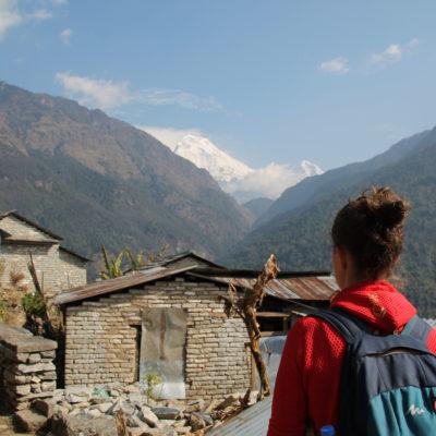 Nuestra primera vista del Annapurna