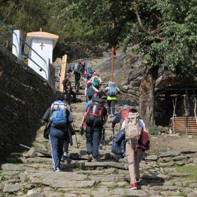 Las escaleras estuvieron muy concurridas durante toda la mañana, sobretodo de chinos