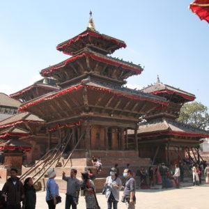 Los templos más caraterísticos de las Durbar Square, en este caso los de Katmandú