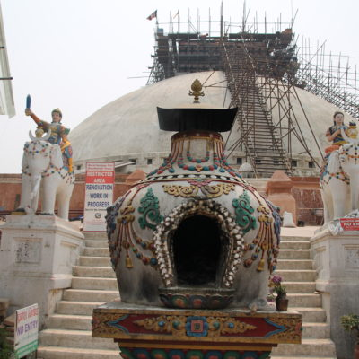 Lo que queda de la estupa Boudhanath