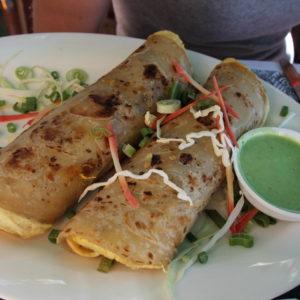 Chicken kathi kebab