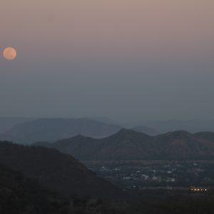 La luna ya nos estába dando las buenas noches