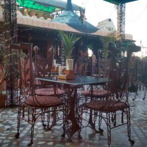 El bohemio (y para nosotros lujoso) Peacock Restaurant