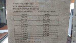 Horarios Kota Bharu Kuala Besut