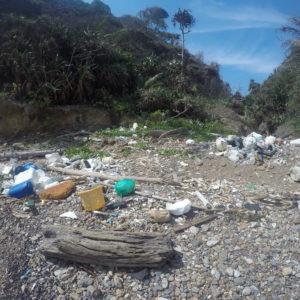 Lamentablemente no es oro todo lo que reluce y las zonas menos frecuentadas se llenan de basura tras las tormentas