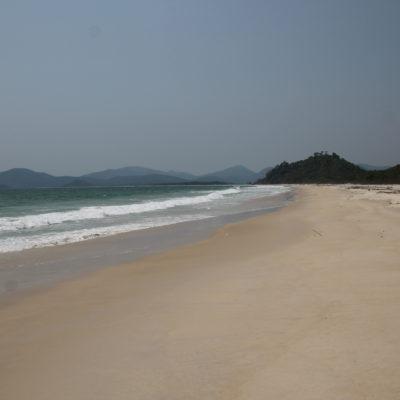 La inmensa playa Godfather... ¡Y pensar que estaba totalmente vacía!
