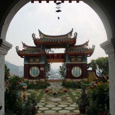 Todo el templo tiene un claro estilo chino