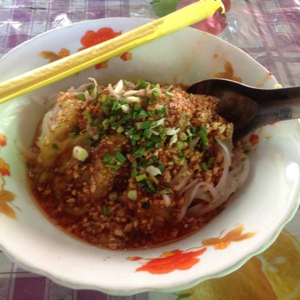 Shan noodles del mercado, muy buenos