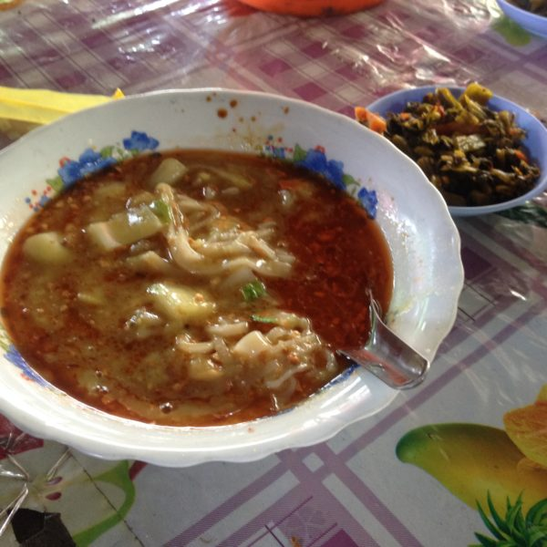 Y la versión de Shan noodles con salsa de alubias... ¡Espectacular!