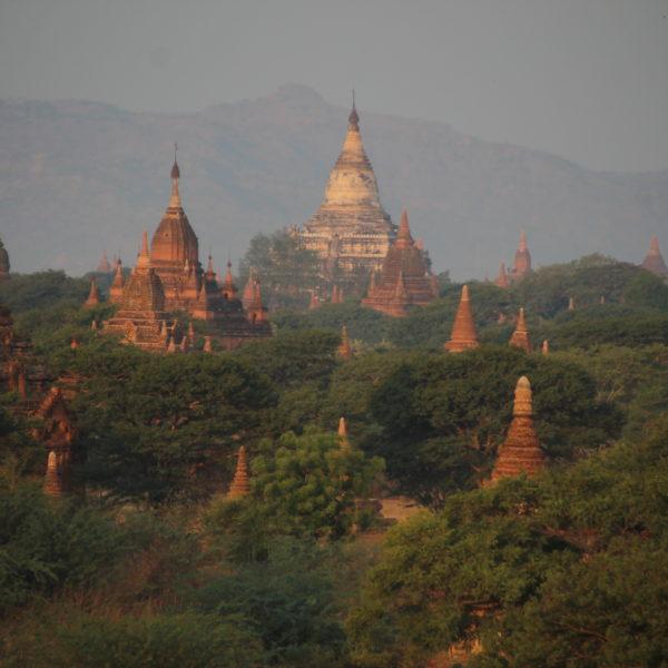 El skyline de Bagan es siempre increíble