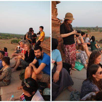En Bagan es prácticamente imposible estar sólo para el amanecer/atardecer
