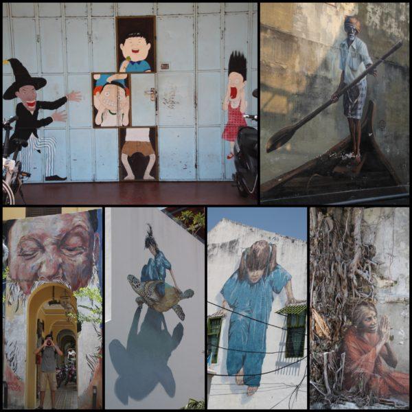 Cualquier lugar es bueno para el arte callejero