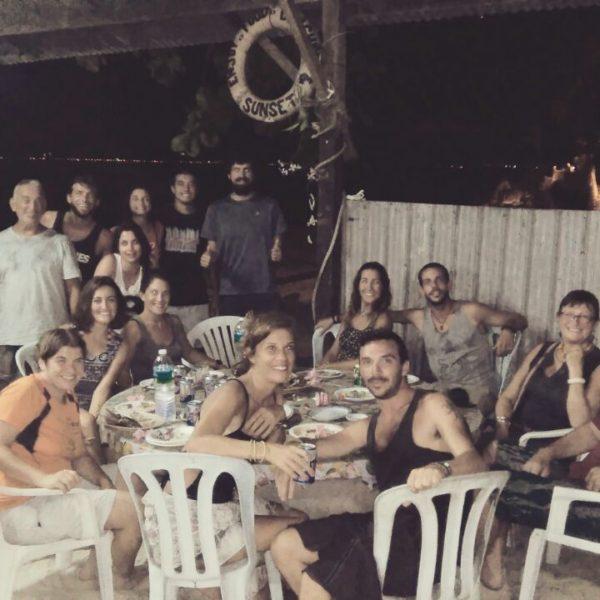 Gran grupo que nos reunimos para la barbacoa