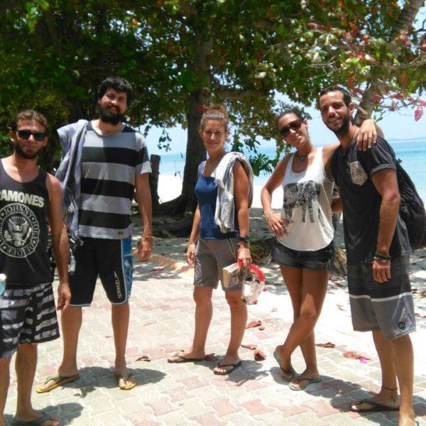Parte del equipo de snorkel